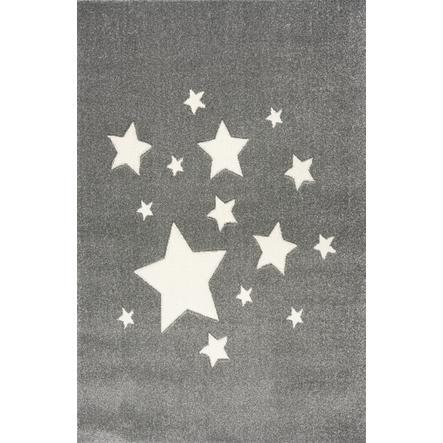 ScandicLiving Teppich Sterne silbergrau, 120x180 cm
