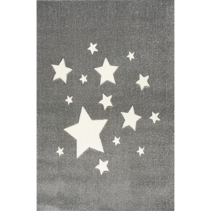 ScandicLiving Tapis enfant étoiles gris argenté 120x180 cm