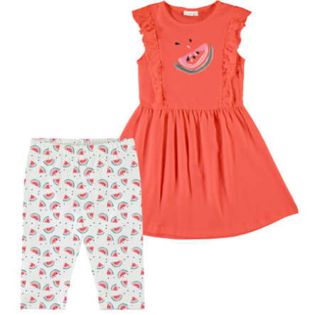 name it Girls Set leggings og dress 2-delt Venus emberglow