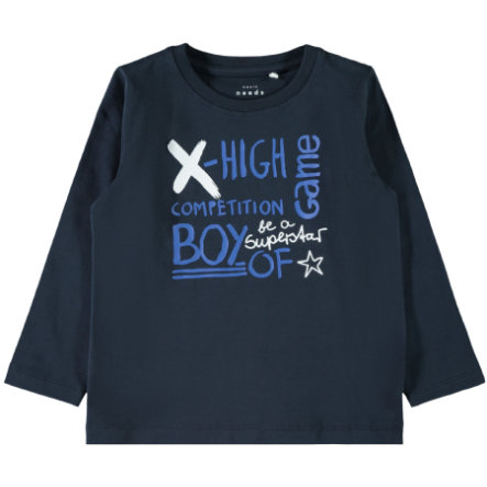 name it Boys Langarmshirt Vuxi dark sapphire