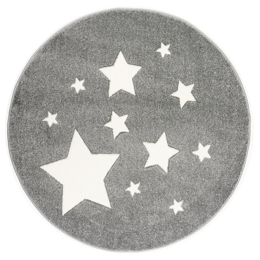 ScandicLiving alfombra stars silvergrey, redonda Ø 133 cm