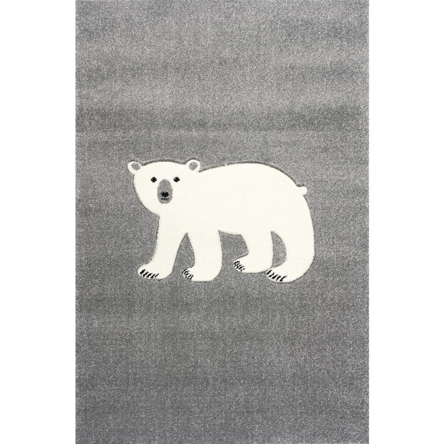 ScandicLiving Teppich Eisbär silbergrau, 120x180 cm