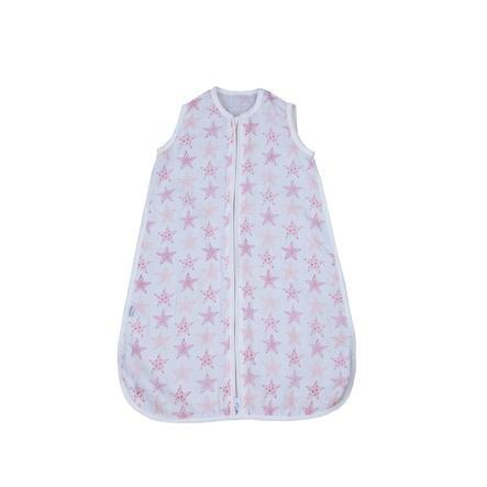 LITTLE Mullschlafsack Sterne rosa