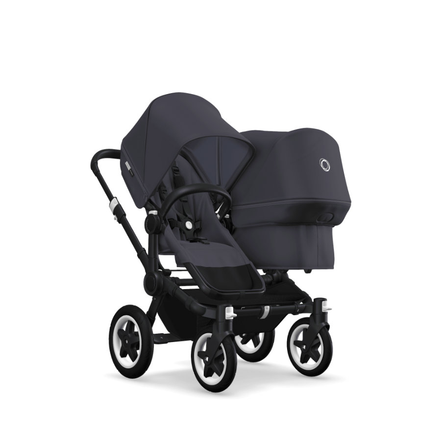 bugaboo Sisarusrattaat Donkey 2 Plus Duo, Black / Steel Blue