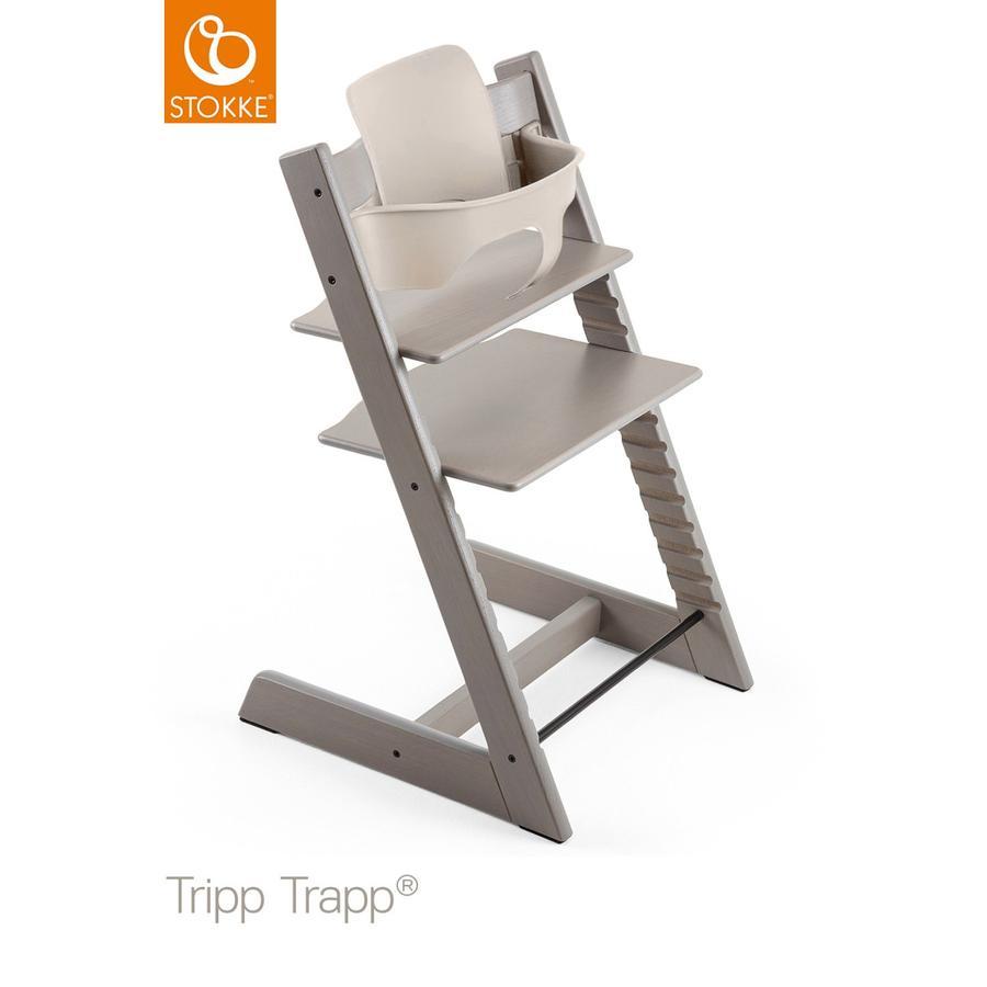 STOKKE® Tripp Trapp® Hochstuhl Oak Grey Wash inkl. Baby Set Storm Grey