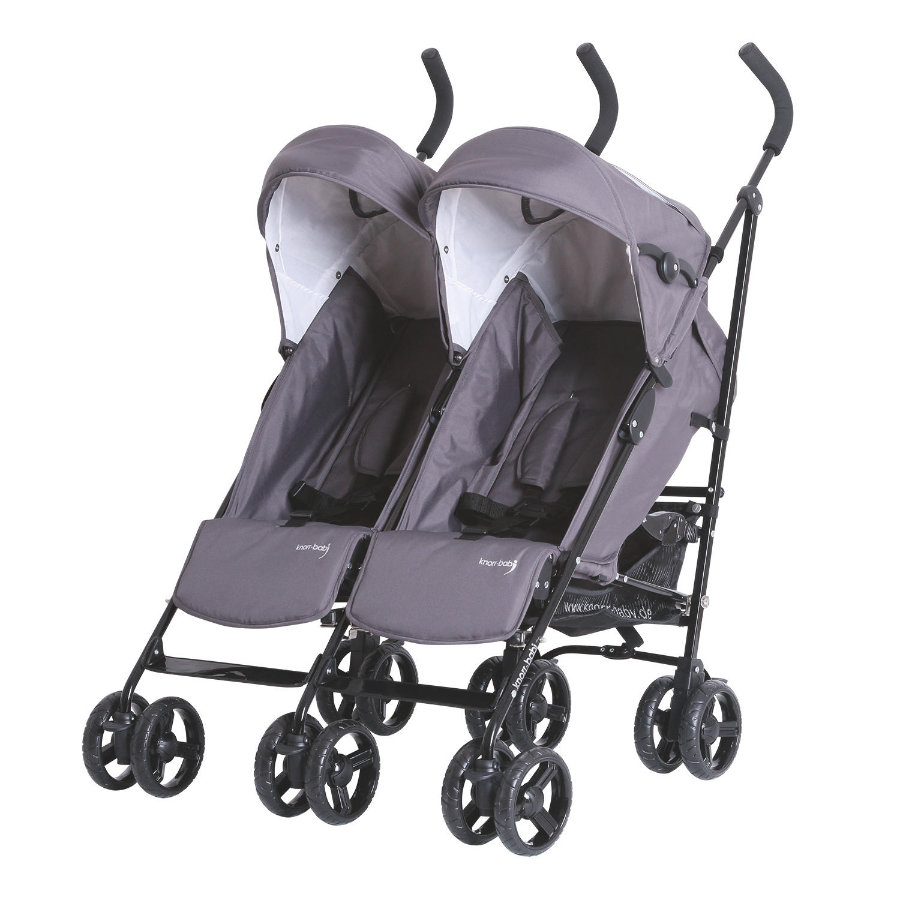 knorr-baby Poussette double canne Side by Side gris