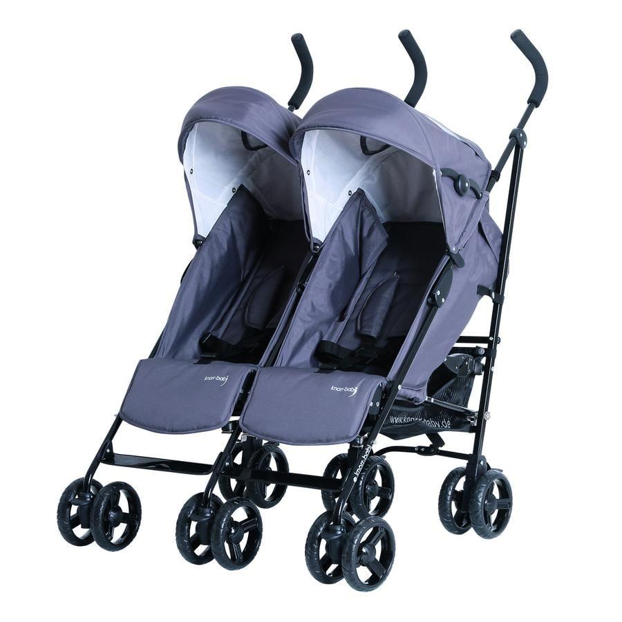 Knorr-Baby Syskonvagn Side by Side, grå