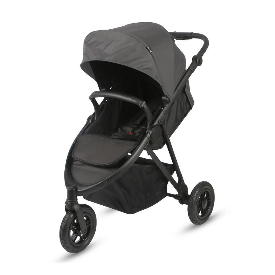 knorr-baby Sittvagn EasySport3 svart/mörkgrå
