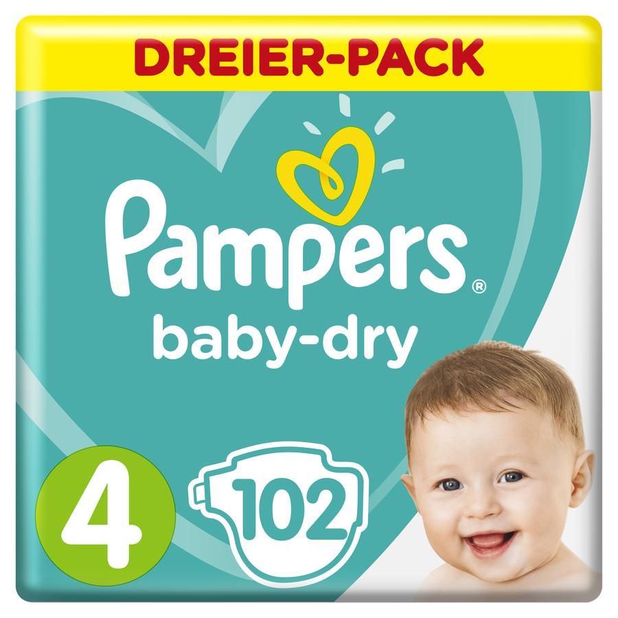 Pampers Wind eln Baby Dry Gr. 4 Maxi 102 Wind eln 9 tot 14 kg Drievoudige verpakking