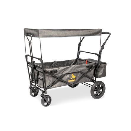Pinolino Chariot de transport à main enfant pliable Piet Comfort, toit mélange gris