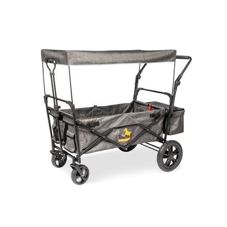 Pinolino Klappbollerwagen Piet Comfort mit Bremse, grau meliert