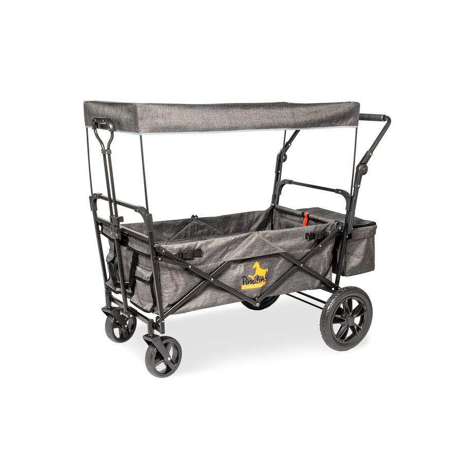 Pinolino Sammenleggbar pullertbil Piet Comfort med brems, grå flekket