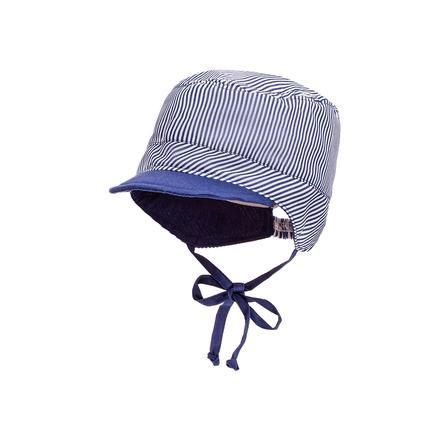 maximo Boys Tellercap Streifen marine-weiss