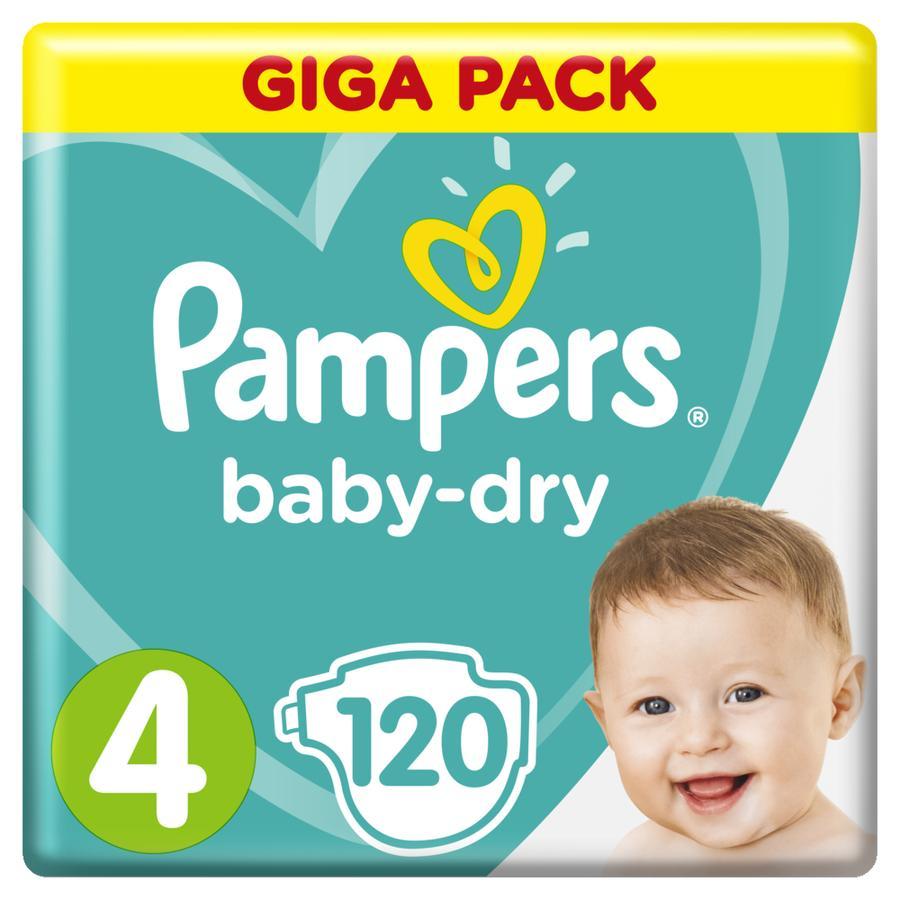 Pampers Baby Dry Gr. 4 Maxi 120 Windeln 9 bis 14 kg Giga Pack