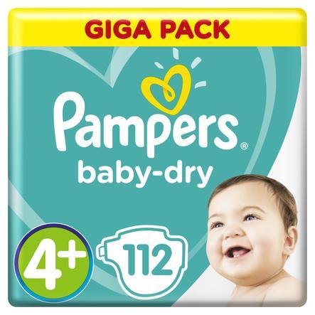 Pampers Baby Dry Gr.4+ Maxi Plus 112 Luiers 10 - 15 kg Giga Pack