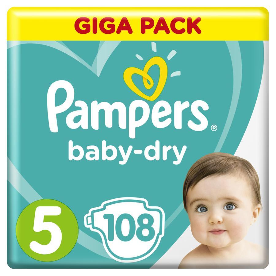 Pampers Baby Dry Gr. 5 Junior 108 Luiers 11 - 16 kg Giga Pack