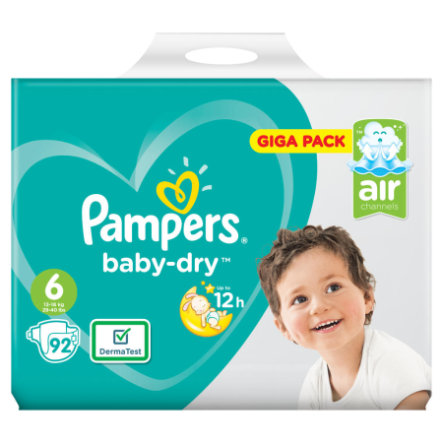 Pampers Baby Dry Gr. 6 Extra Large 92 Luiers 13 - 18 kg Giga Pack