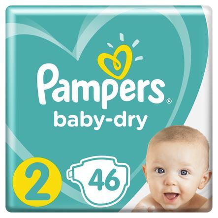 Pampers Windeln Baby Dry Gr. 2 Mini 46 Windeln 4 bis 8 kg Sparpack