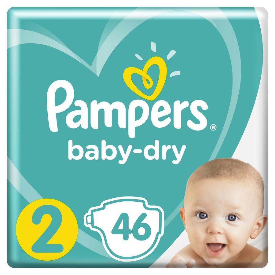 Pampers Baby Dry, koko 2 (3-6 kg), säästöpakkaus 46 kpl