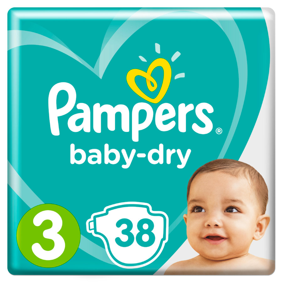 Pampers Wind eln Baby Dry Gr. 3 Midi 38 Wind eln pack económico de 6 a 10 kg
