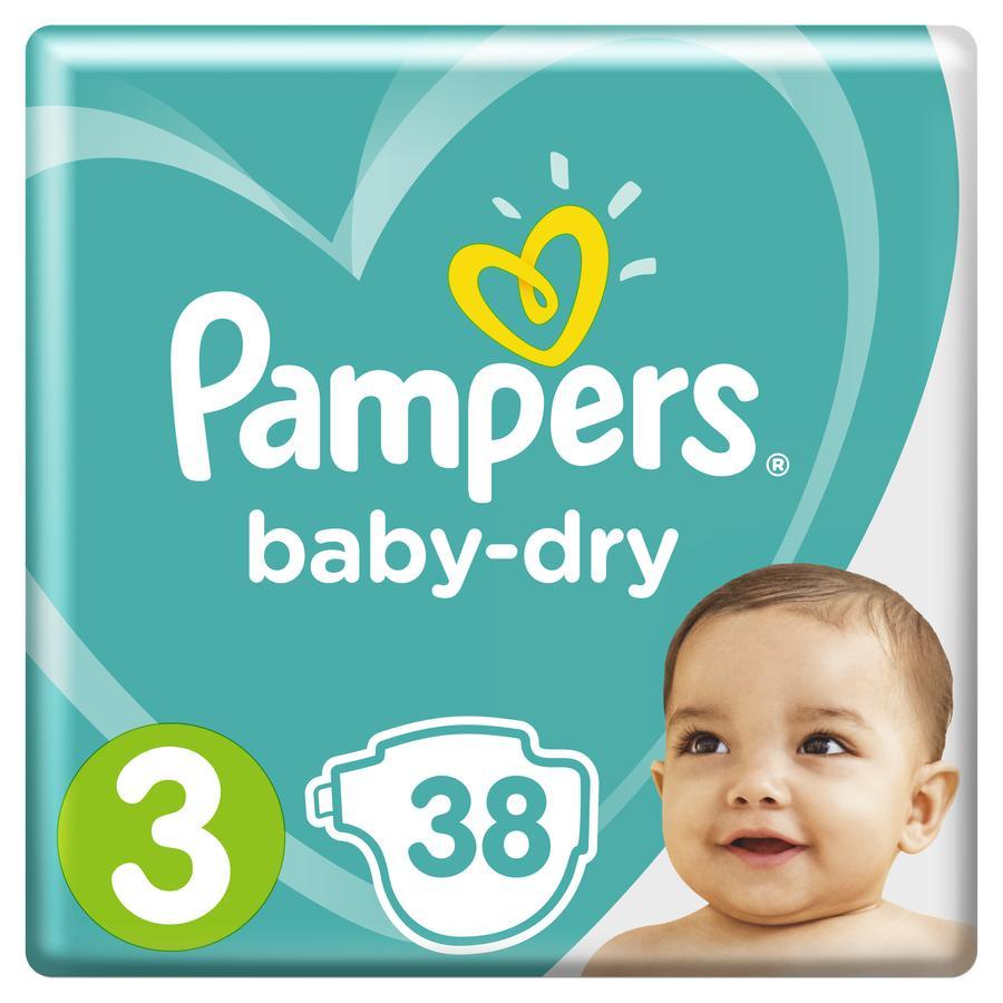 Pampers Windeln Baby Dry Gr. 3 Midi 38 Windeln 6 bis 10 kg Sparpack