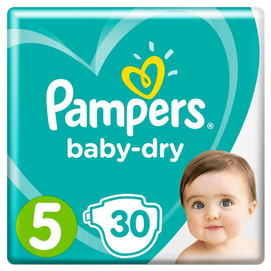 Pampers Couches Baby Dry T. 5 11-16 kg 30 pièces