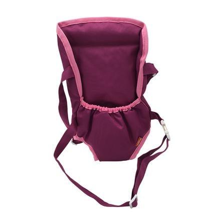 knorr® toys Puppenbauchtrage - pink purple