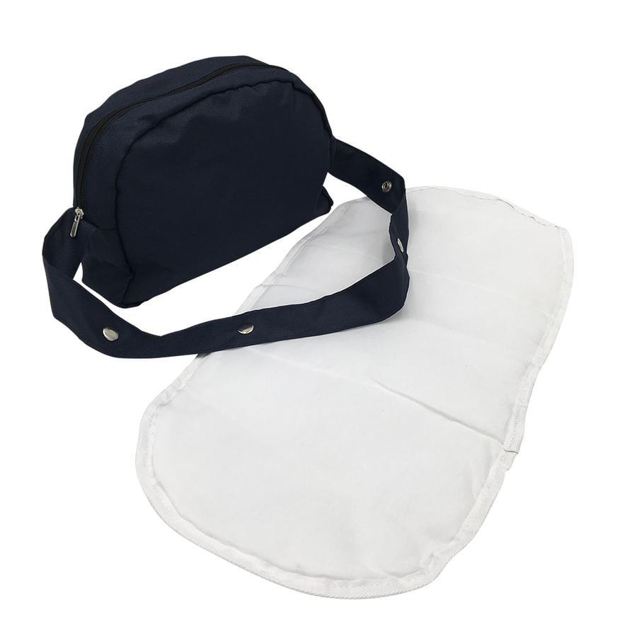 bolso de pañales para muñecas knorr® toys - azul marino