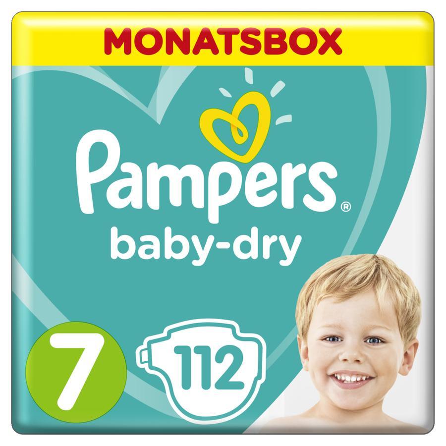 Pampers Baby-Dry Windeln, Gr. 7, 15+kg, Monatsbox (1 x 112 Windeln)