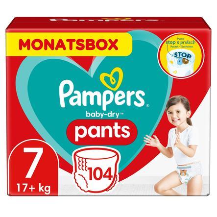Pampers Baby-Dry Pants, Gr.7, 17+kg, Monatsbox (1 x 104 Höschenwindeln)