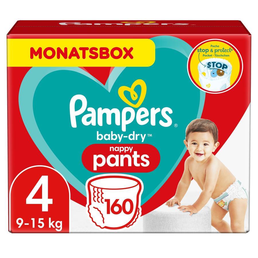Pampers Pañales Baby Dry nappy Pants Tamaño 4 Maxi 160 Pañales 9 - 15 kg Caja mensual