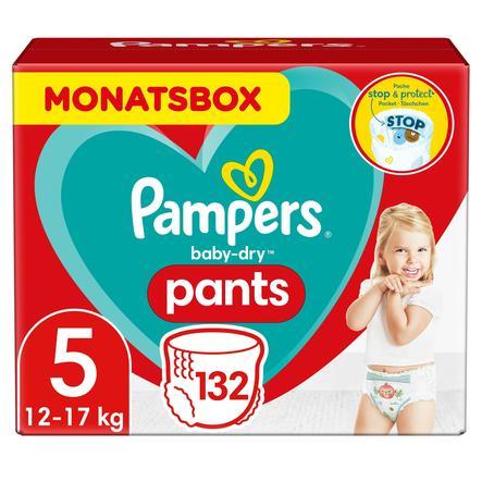 Pampers Wind eln Baby Dry pieluszka Pants rozmiar 5 Junior 132 Wind eln 12 do 17 kg Skrzynka miesięczna