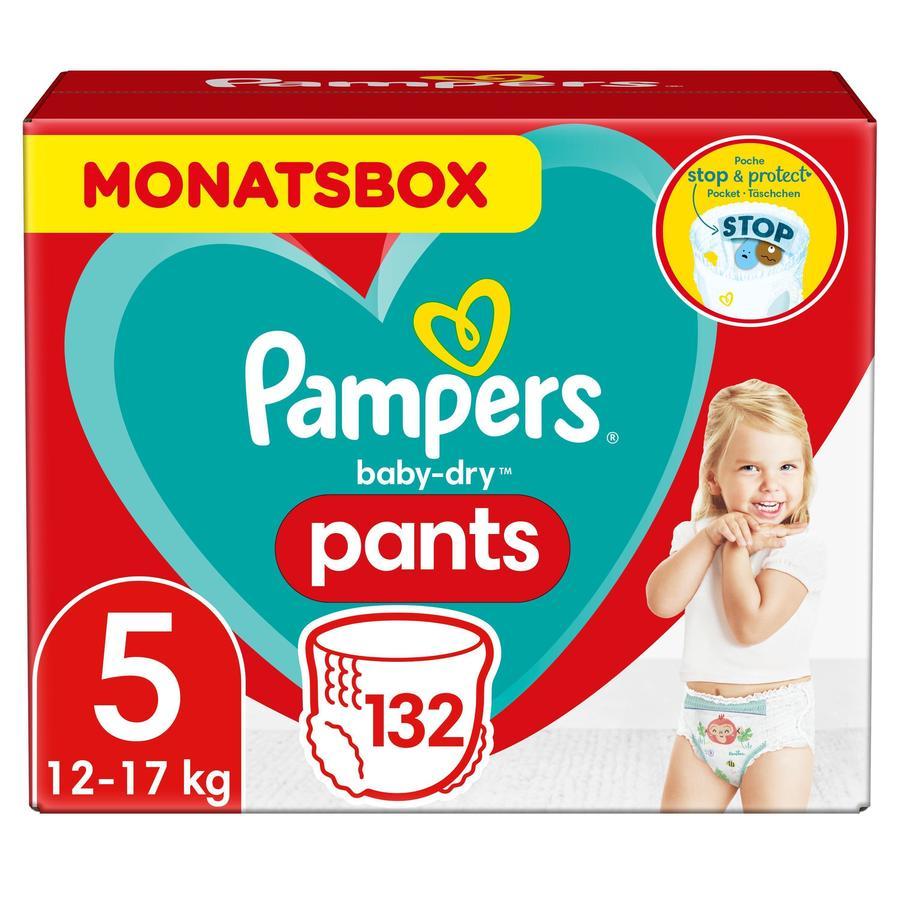 Pampers Baby-Dry Pants, storlek 5, 12-17kg, månadsbox (1 x 132 trosor)