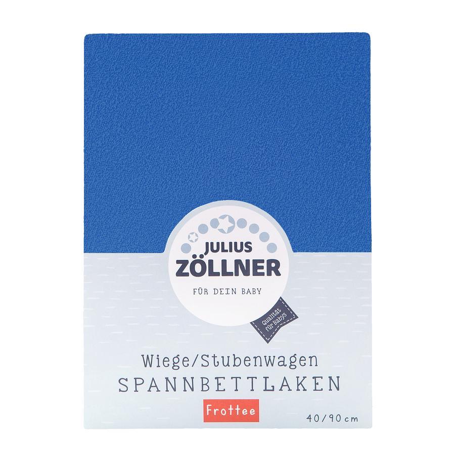ZÖLLNER Sábana ajustable de rizo para cuna color azul