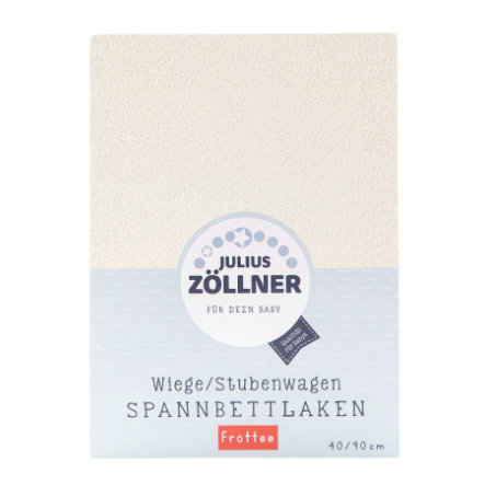 JULIUS ZÖLLNER Spannbetttuch Frottee für Wiege ecru