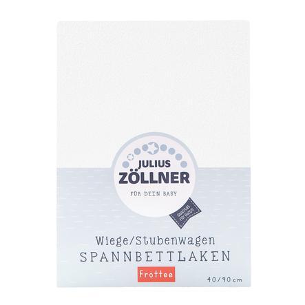 ZÖLLNER Sábana ajustable de rizo para minicuna color blanco
