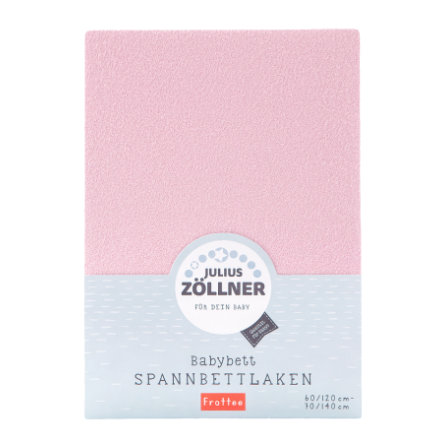 ZÖLLNER Sábana ajustable de rizo color rosa