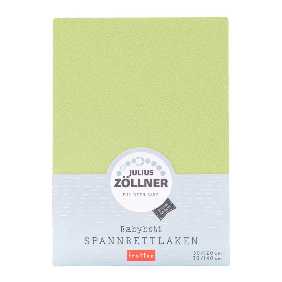ZÖLLNER Sábana ajustable de rizo color verde