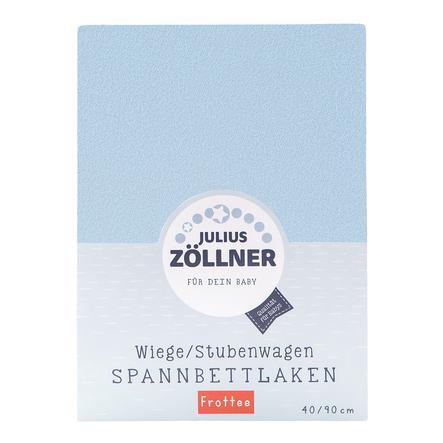 JULIUS ZÖLLNER Spannbetttuch Frottee für Wiege hellblau