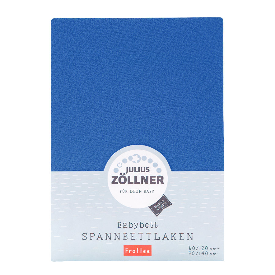 ZÖLLNER Sábana ajustable de rizo color azul