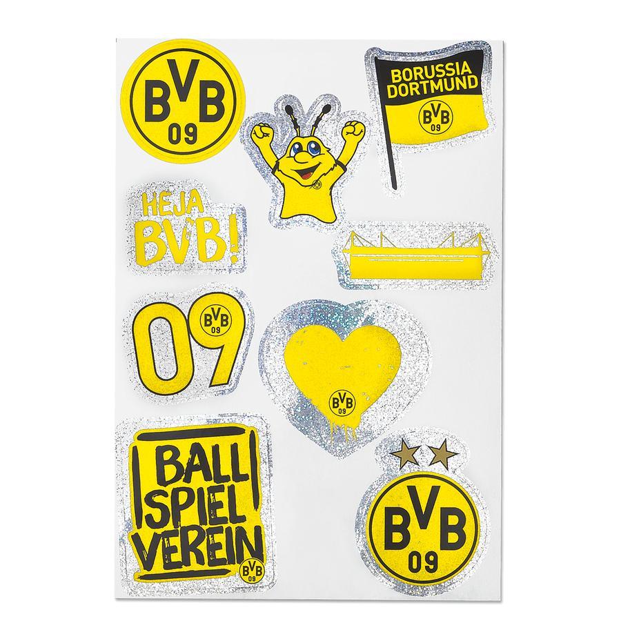 BVB Aufkleberkarte glitzernd