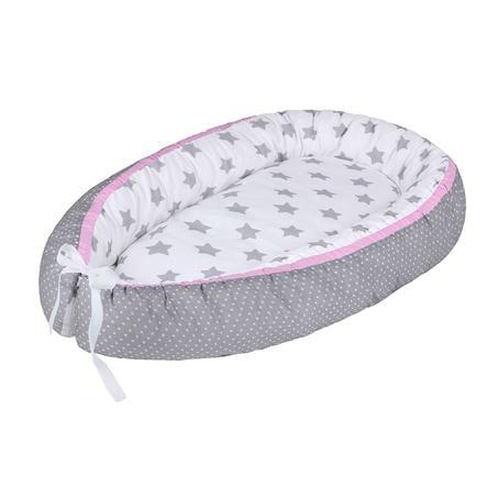 LULANDO Nido de bebé multifuncional starlet grey/ dot grey