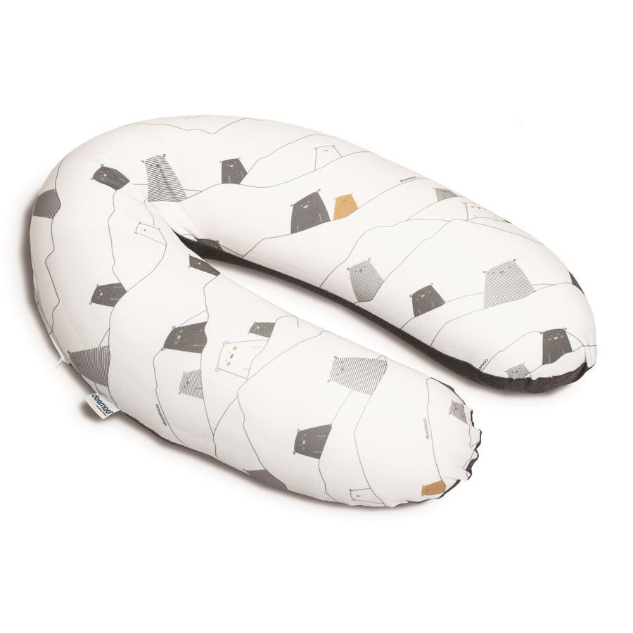 Doomoo Fodera per cuscino da allattamento Buddy Bear grey