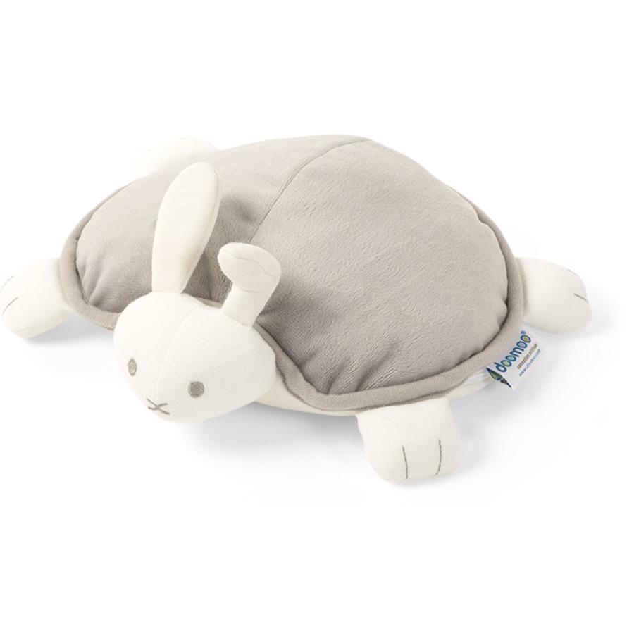 Doomoo Teplý polštář a plyšová hračka snoggy králík šedá