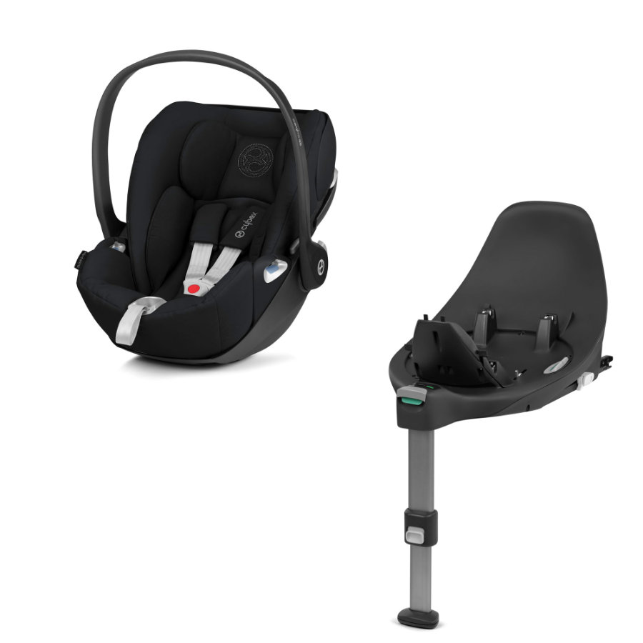 cybex PLATINUM Babyschale Cloud Z i-Size Stardust Black mit Basisstation Base Z