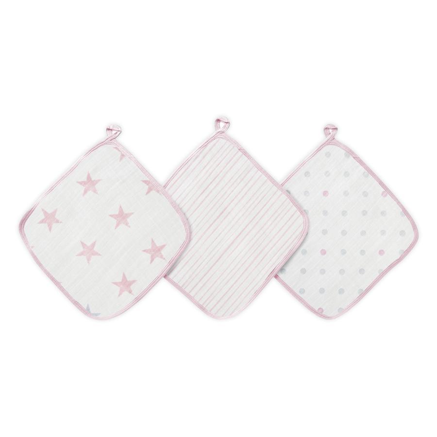 Paquete de 3 muñecas de tela de lavar aden