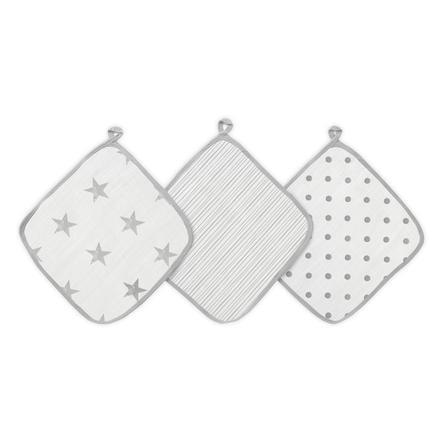 aden® Waschlappen dusty 3er Pack