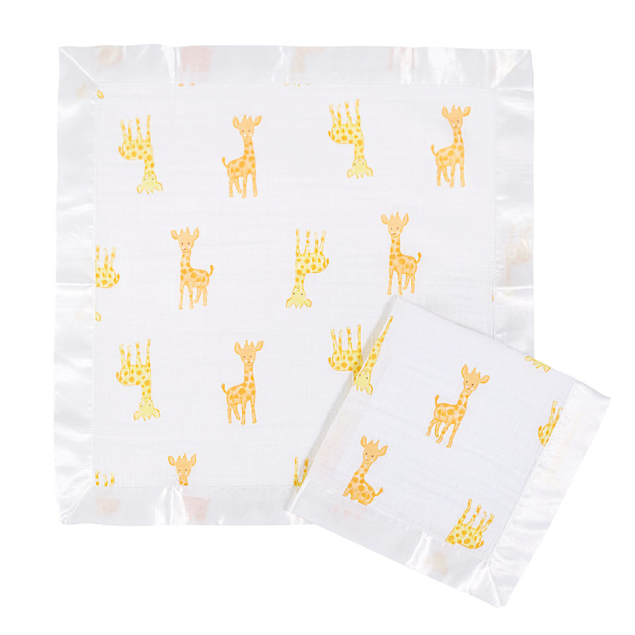 Aden by Aden+Anais® Couverture doudou safari girafe, lot 2 pièces