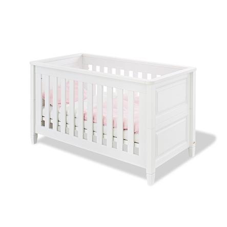 Pinolino Lit Enfant A Barreaux Monja Bois Blanc 70x140 Cm