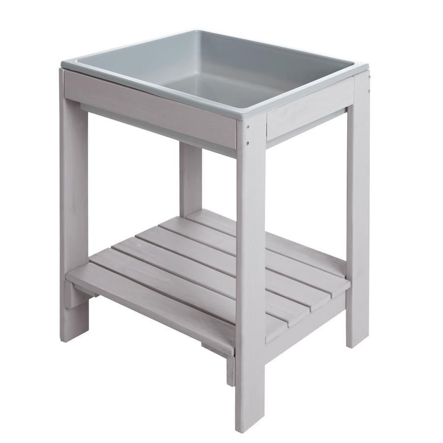 roba Table de jeu enfant Tiny Deluxe, bac, bois gris